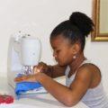 Gabby sewing