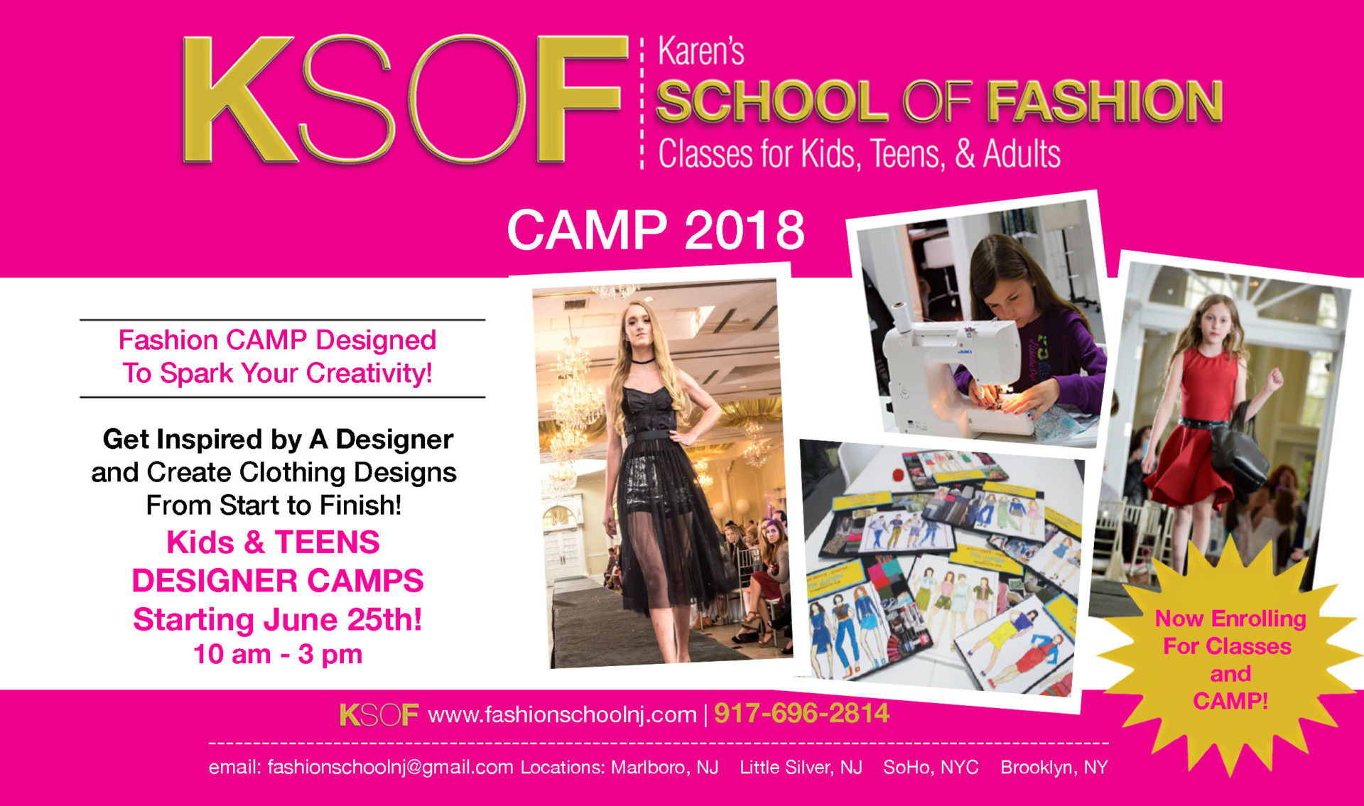 Summer Camp 2018 Discount New Students Ksof Karen S School Of Fashion Sewing And Fashion Design In Ny And Nj
