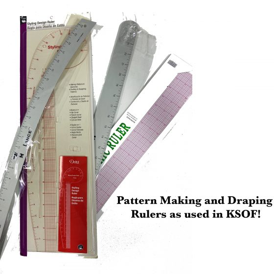 draping and pattern making rulers